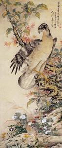A Falcon by Jakuchu Ito
