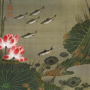 A Shoal of Trout and Lotus by Jakuchu Ito