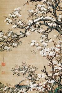 Birds on Aronia Branch by Jakuchu Ito