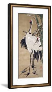 Two Cranes by Jakuchu Ito
