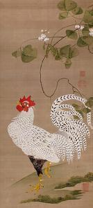 White Rooster by Jakuchu Ito