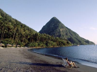Jalousie Bay, Petit Piton, St. Lucia--Photographic Print