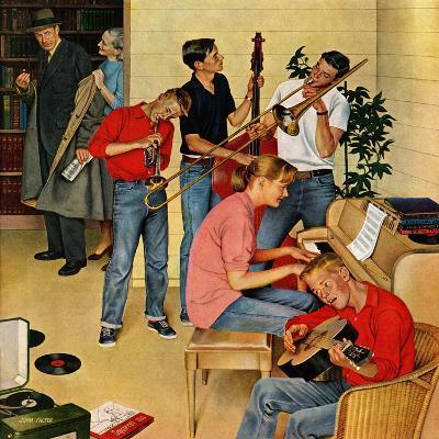 """""""Jam Session"""", October 23, 1954-John Falter-Giclee Print"""