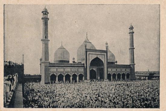 'Jama Masjid, Delhi', c1900-Unknown-Giclee Print