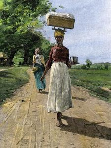 Jamaica Woman on Her Way to Market, 1890s