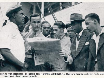 Jamaicans on Board the Empire Windrush--Photographic Print
