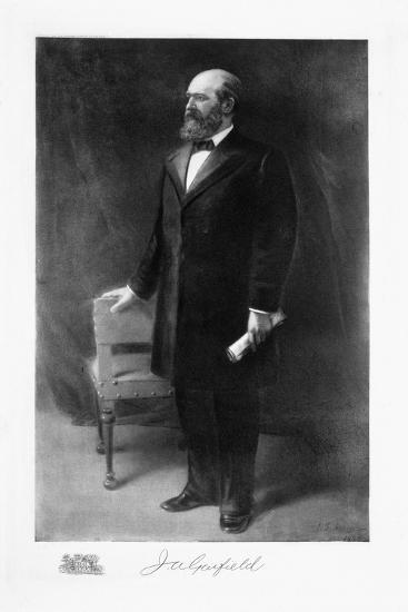 James A Garfield, 20th President of the United States of America, (1901)-Unknown-Giclee Print