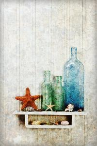 Starfish, Seashells and Bottles by James A. Guilliam