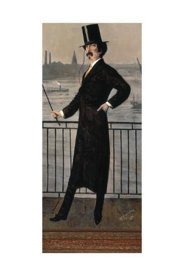 James Abbott Mcneill Whistler Auf Dem Widow's Walk in Der Naehe Seines Hauses-Walter Greaves-Giclee Print