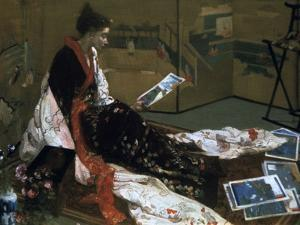Caprice in Purple and Gold, the Golden Screen, 1864 by James Abbott McNeill Whistler