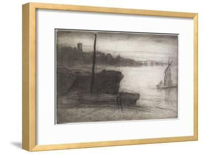 Chelsea Bridge and Church from Sixteen Etchings of Scenes on the Thames and Other Subjects