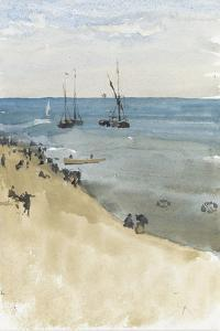 Green and Silver -- the Bright Sea, Dieppe (Watercolour and Gouache on Paper) by James Abbott McNeill Whistler