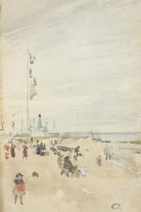 Grey and Pearl: Bank Holiday Banners, 1883-84 by James Abbott McNeill Whistler