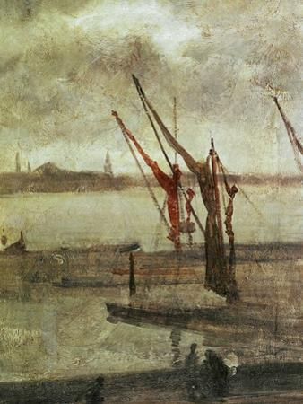 Grey And Silver: Chelsea Wharf, Ca. 1864-1868 by James Abbott McNeill Whistler