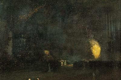 Nocturne: Black and Gold - the Fire Wheel by James Abbott McNeill Whistler