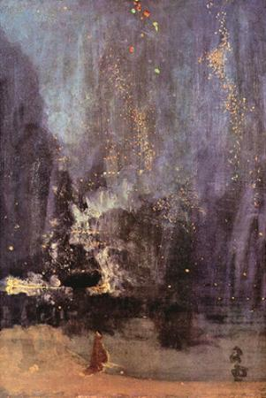 Nocturne in Black and Gold, the Falling Rocket by James Abbott McNeill Whistler