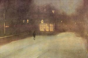 Nocturne in Gray and Gold, Snow in Chelsea by James Abbott McNeill Whistler