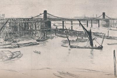 Old Hungerford Bridge, 1861, (1903) by James Abbott McNeill Whistler