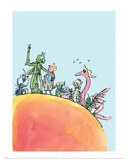 James and the Giant Peach-Quentin Blake-Art Print