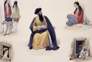 """A Portrait of His Majesty Shah-Soojah-Ool-Moolk, from """"Sketches in Afghaunistan"""" by James Atkinson"""