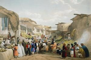 Bazaar at Kabul During the Fruit Season, First Anglo-Afghan War, 1838-1842 by James Atkinson