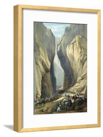 British Army Entering the Bolan Pass from Dadur, First Anglo-Afghan War, 1838-1842