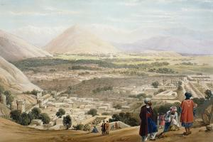 Kabul from the Citadel, Showing the Old Walled City, First Anglo-Afghan War 1838-1842 by James Atkinson