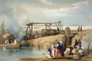 Persian Wheel Raising Water from the Sutlej River, Punjab, 1842 by James Atkinson