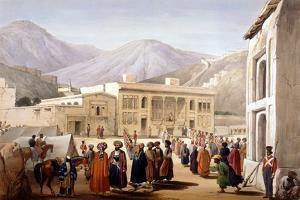 Shah Shoja, Puppet of the British, Holding a Durbar at Kabul, First Anglo-Afghan War, 1838-1842 by James Atkinson