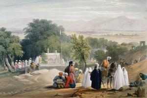 Tomb of Emperor Babur, Kabul, First Anglo-Afghan War 1838-1842 by James Atkinson