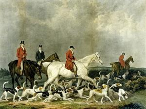 The Earl of Derby's Stag Hounds, Engraved by R. Woodman, 1823 by James Barenger