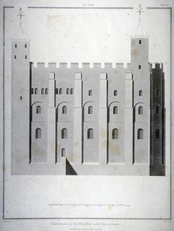South Elevation of the White Tower, Tower of London, 1815