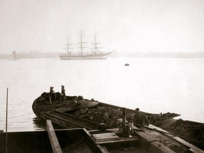 Barge Loaded with Freight, Rotterdam, 1898 by James Batkin