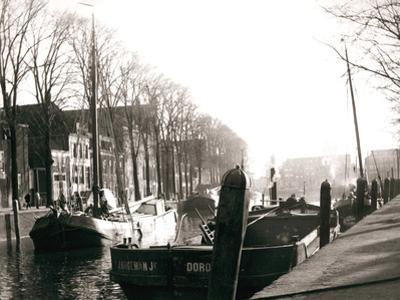 Canal Boats, Dordrecht, Netherlands, 1898 by James Batkin
