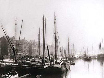Canal Boats, Rotterdam, 1898 by James Batkin