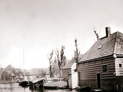 Canalside Houses, Broek, Netherlands, 1898 by James Batkin
