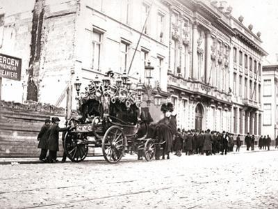 Horse-Drawn Hearse, Antwerp, 1898 by James Batkin
