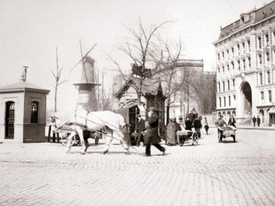 Man with Horse, Rotterdam, 1898 by James Batkin
