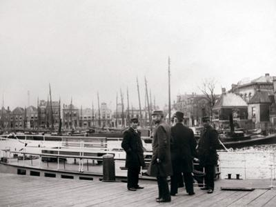 Men by a Canal Boat, Rotterdam, 1898 by James Batkin