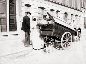 People and Dogcart, Antwerp, 1898 by James Batkin