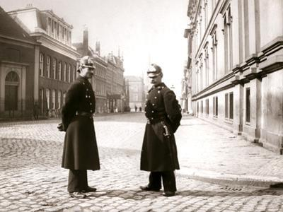 Policemen, Rotterdam, 1898 by James Batkin