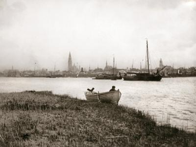 Rowing Boat by a Canal, Rotterdam, 1898 by James Batkin