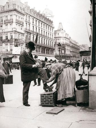 Woman Polishing Shoes, Brussels, 1898