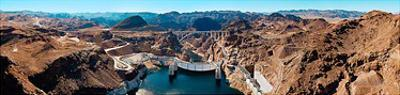 Hoover Dam - Looking Downstream