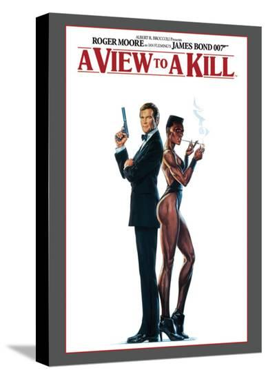 James Bond, A View to Kill--Stretched Canvas Print