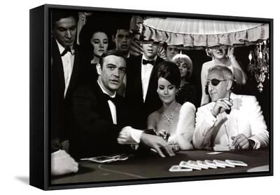 James Bond at the Casino, Thunderball--Framed Canvas Print