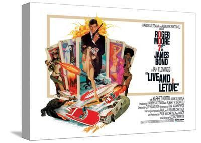 James Bond, Live and Let Die--Stretched Canvas Print