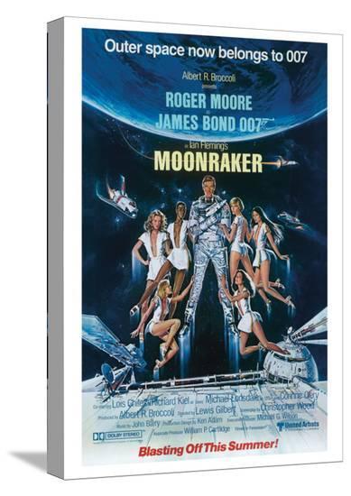 James Bond, Moonraker--Stretched Canvas Print