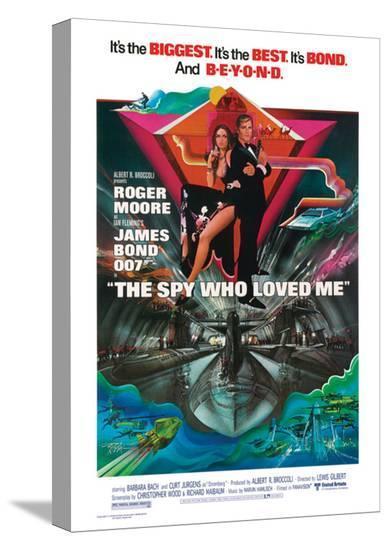 James Bond, Spy Who Loved Me--Stretched Canvas Print
