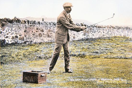 James Braid, Scottish golfer, Open championship at Muirfield, 1906-Unknown-Giclee Print